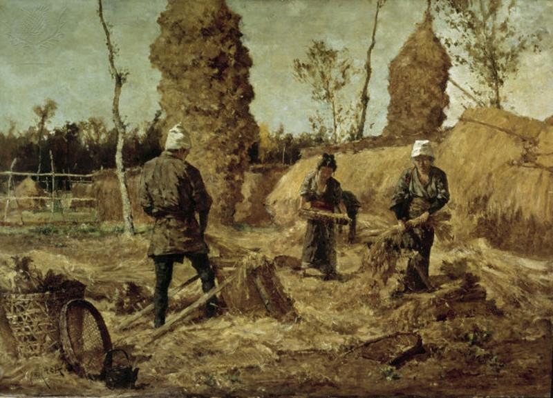 Medieval peasants farming